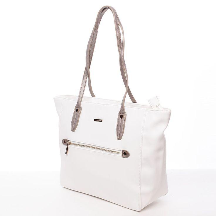 Dámská stylová kabelka Elysabeth, bílá
