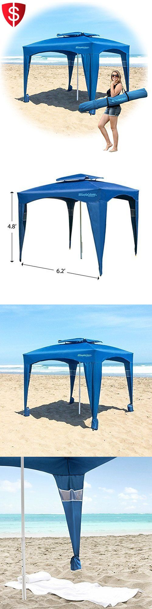 Canopies and Shelters 179011: Beach Canopy Tent Outdoor Umbrella Large Shelter Camping Sun Uv Cabana Portable -> BUY IT NOW ONLY: $82.49 on eBay!