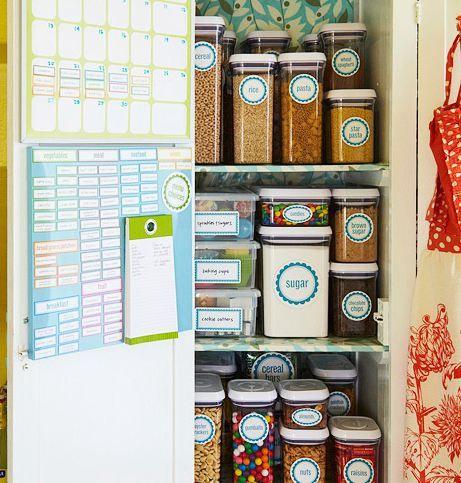 Jeg må bare have mig et rigtigt spisekammer... eller bare et skab, åh hvor jeg mangler plads til ALT :-)