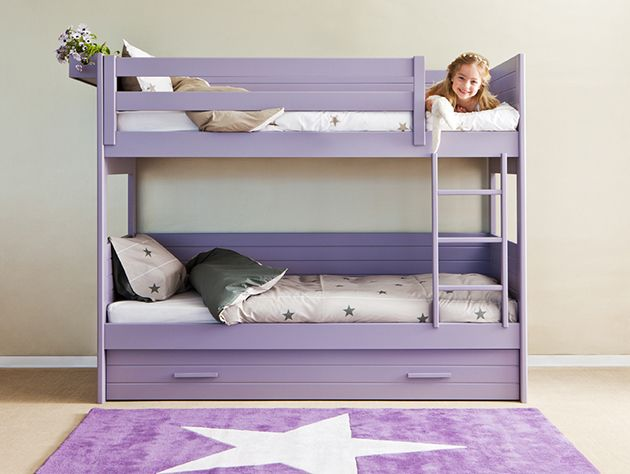 Litera con cama nido de muebles infantiles Asoral