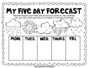 whimsical weather {craftivities, printables, & more!} - A Cupcake for the Teacher - TeachersPayTeachers.com