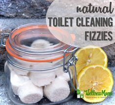 Natural toilet cleaning fizzies are a great and effective way to clean a toilet without chemicals. They contain baking soda, citric acid and essential oils.