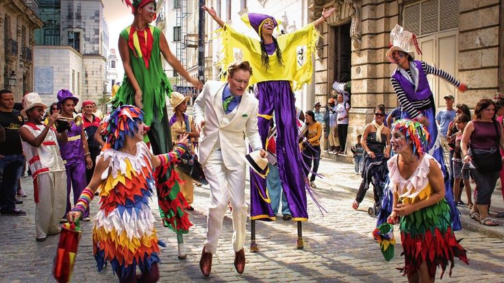 """Conan O'Brien on Cuba: """"It's a beautiful city, the architecture is crazy, and the people are vibrant and it's got a lot of life to it, but man, everything is crumbling,"""" Airs March 4 2015"""