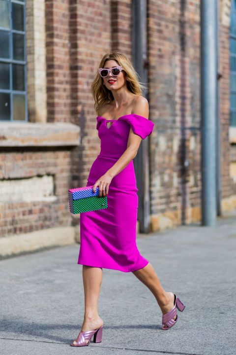 Think Pink! 18 ways to wear pink this summer: a bright fuchsia pink dress
