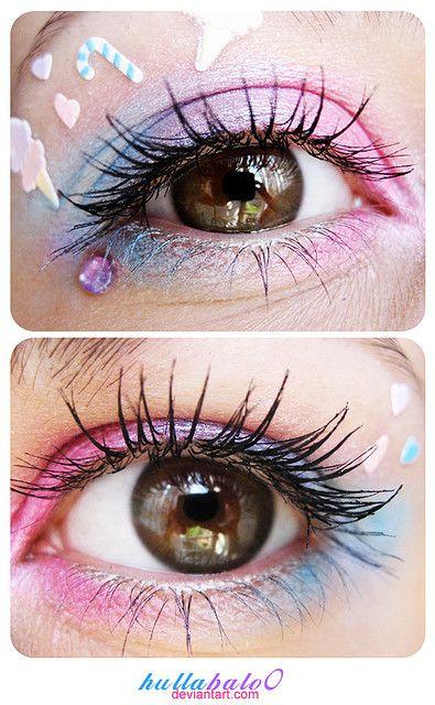 kawaii eye makeup #kawaii #eye #makeup