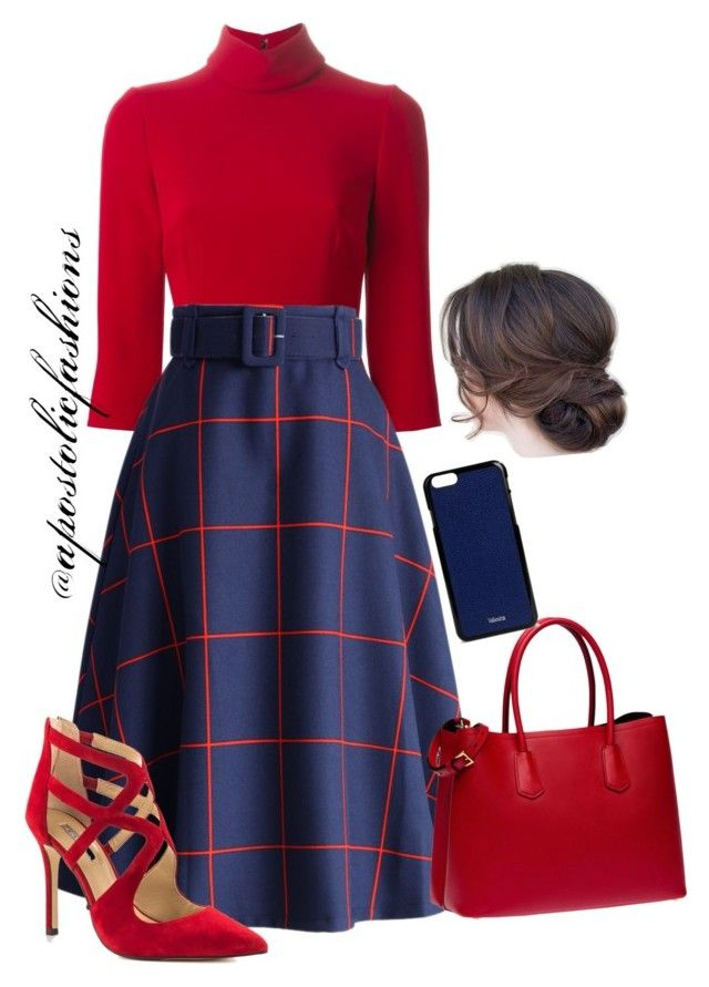 """Apostolic Fashions #814"" by apostolicfashions on Polyvore featuring Dolce&Gabbana, Chicwish, BCBGeneration, Prada and Valextra"