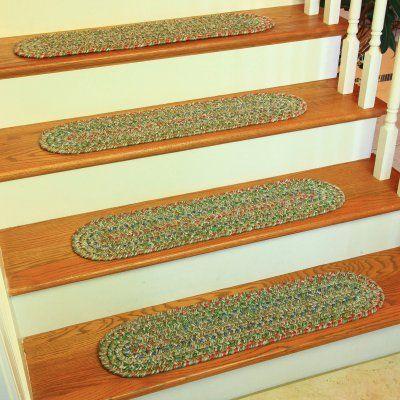 Best Rhody Rug Sierra Stair Tread Moss Green Si65A008X028 13 400 x 300