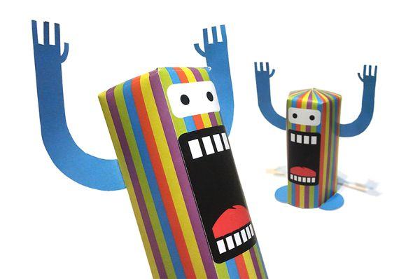 Circoooh papertoys by marcelo miraglia, via Behance