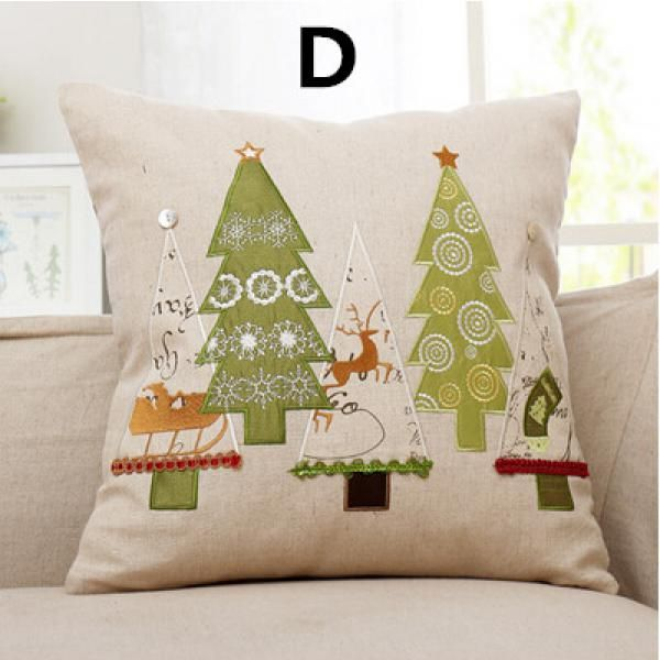 Santa Claus Decorative Pillows Personalized Christmas Gifts Snowman 18 Inch Throw Pillow