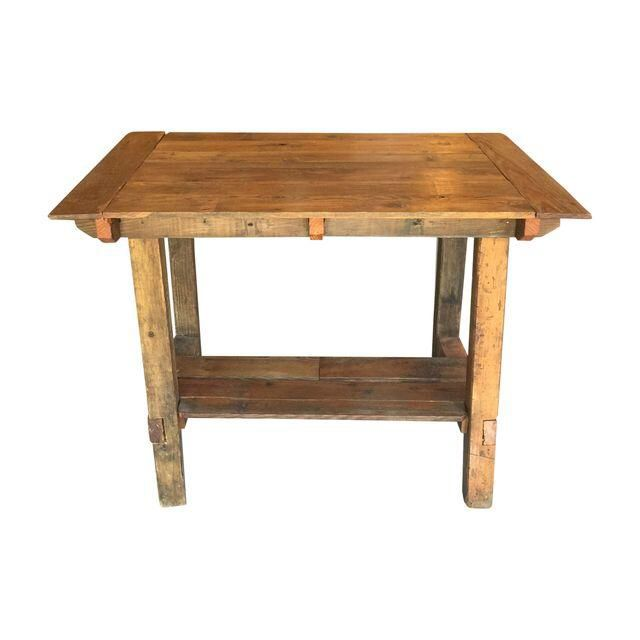 Pub height reclaimed wood table on bar or for Table 0 5 ans portneuf