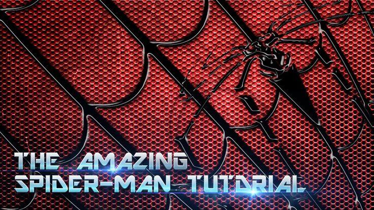 Photoshop 教學 - 蜘蛛人服裝質感製作 parte -1