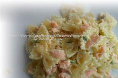 Farfalle al mascarpone con salmone e zucchine