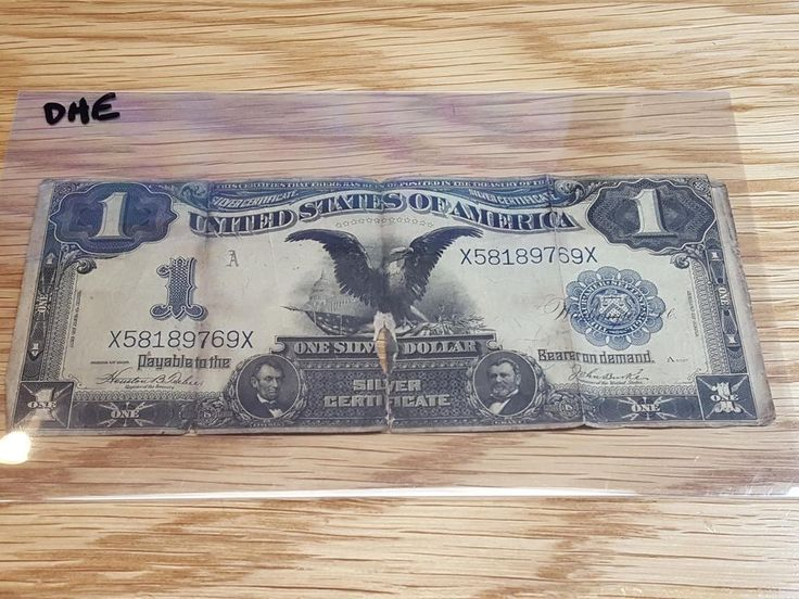 Series 1899 One Dollar Silver Certificate Black Eagle | Coins & Paper Money, Paper Money: US, Large Size Notes | eBay!