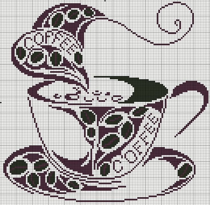 cross stitch coffee project