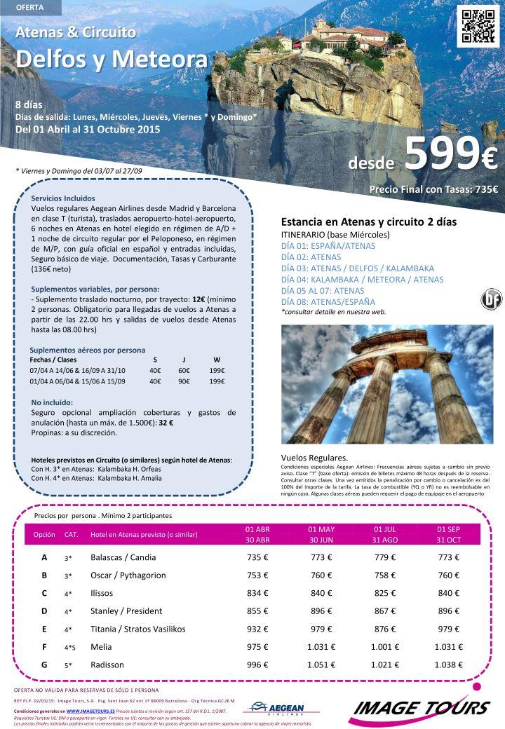 GRECIA  circuito Delfos/Meteora 8 días con visitas desde 599€ - Verano 2015 ultimo minuto - http://zocotours.com/grecia-circuito-delfosmeteora-8-dias-con-visitas-desde-599e-verano-2015-ultimo-minuto-2/