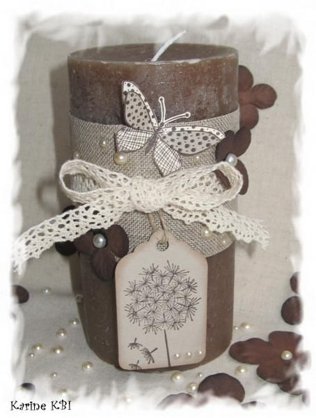 bougie scrapbooking - candle altered