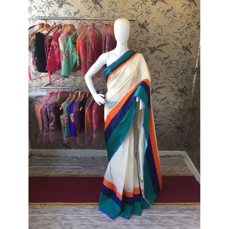 Charming Greencream Color Pure Cottan Silk Saree at just Rs.999/- on www.vendorvilla.com. Cash on Delivery, Easy Returns, Lowest Price.