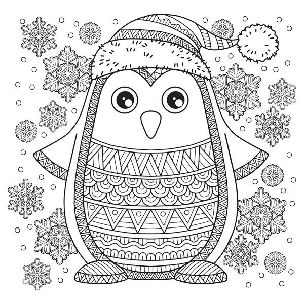 Free Christmas Coloring Pages For Relaxation Penguin Coloring Pages Detailed Coloring Pages Bird Coloring Pages