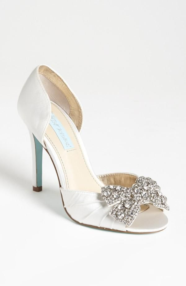 Something blue (check out the color of this Betsey Johnson heel)!: Fashion Shoes, Wedding Shoes, Johnson Gowns, Wedding Heels, Sandals, Something Blue, Girls Shoes, Betsey Johnson, Bridal Shoes