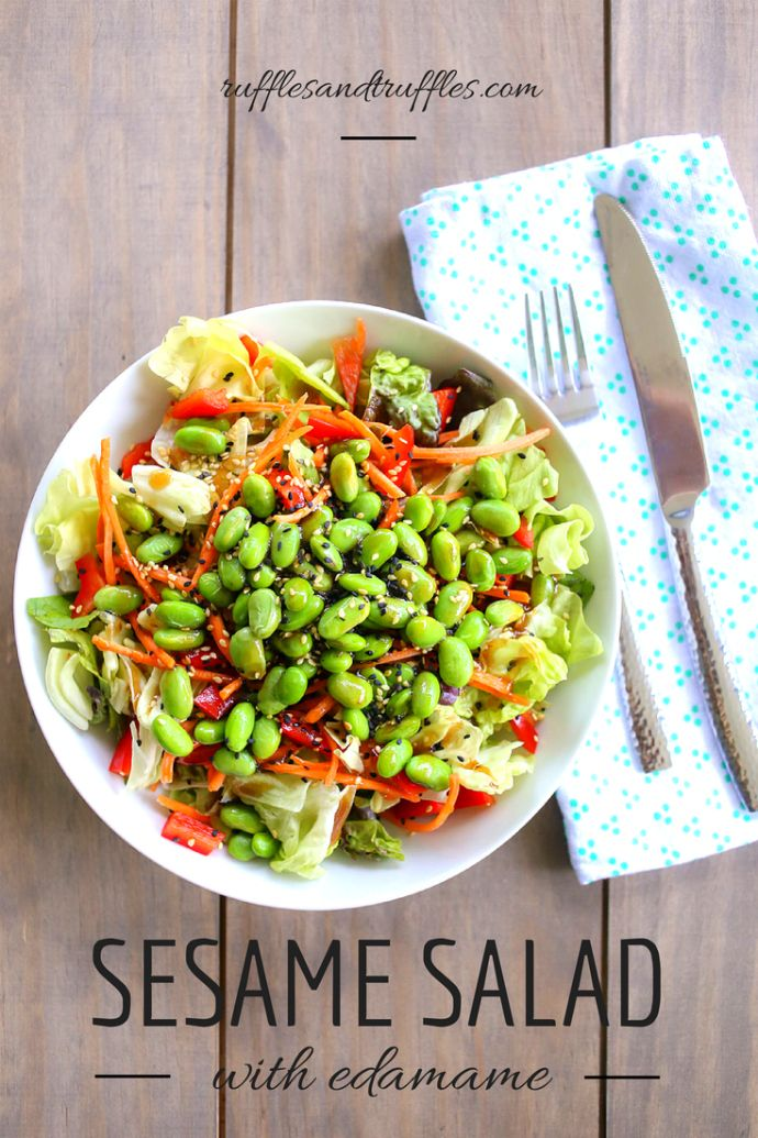 sesame salad with edamame: Ideas Recipes, Recipes Weekdaysupp, Edamame Recipes, Favorite Recipes