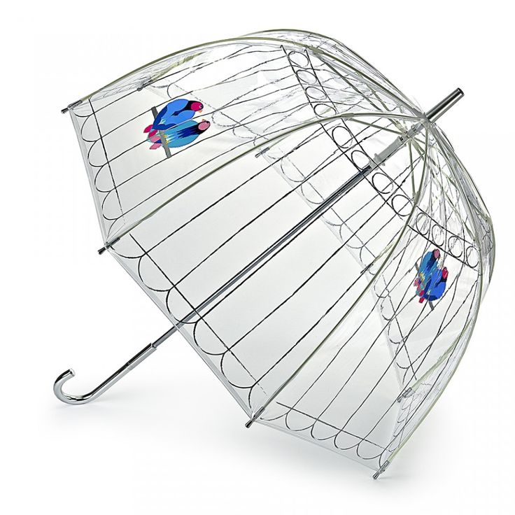 Lovebirds Birdcage Umbrella: Our iconic dome-shaped Birdcage umbrella is the perfect combination of style and function. Complete with a transparent cover, wind resistant frame and Lulu's Lovebirds motif, this essential accessory will brighten up even the greyest of of days.