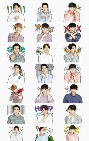 Exo sticker | Gambar, Kartun, Wallpaper lucu