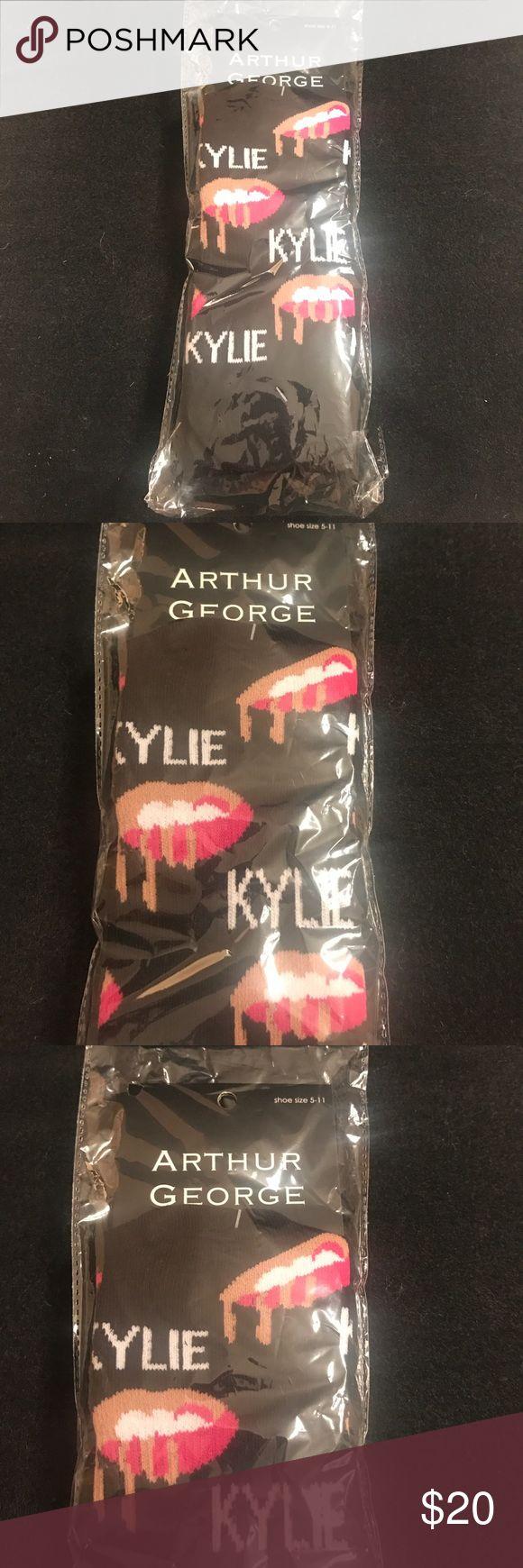 NWT Kylie Jenner Arthur George socks Black Kylie signature logo. Shoe size: 5-11 kylie jenner Accessories Hosiery & Socks