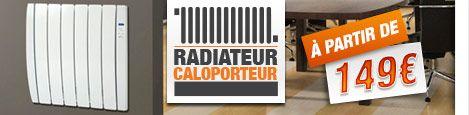#Radiateur électrique - Caloporteur - Label Habitation