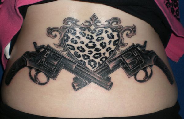 35 awesome gun tattoo designs pistols awesome and guns. Black Bedroom Furniture Sets. Home Design Ideas