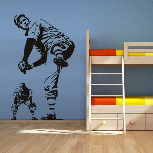 Best Sports Wall Decals Images On Pinterest Softball Sports - Vinyl vinyl wall decals baseball