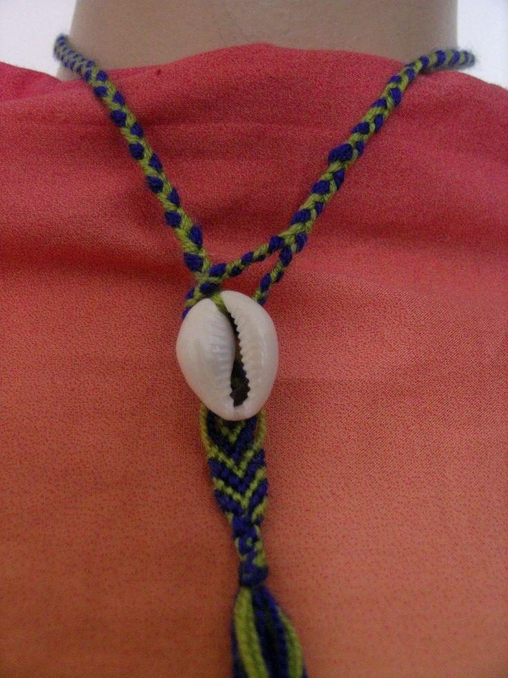 */* hand craft*/* Hippie - Bohemian - shabby -original design */*   A  fancy macramé necklace.... Eine ausgefallene Makramee Halskette ....  Farklı bir makrame  kolye...