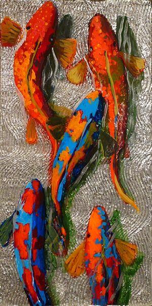 Frank Hyder: Hyder Rise, Amazing Art, Frank Hyder, Fish Watercolor, Koi Fish, Koi Inspiration, Fish Series, Heart Quilts, Koi Art