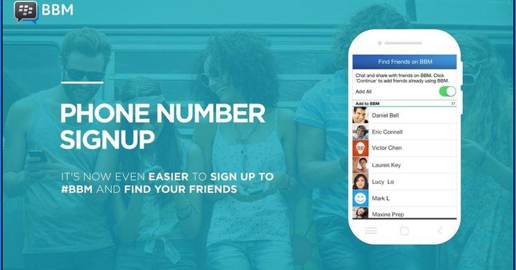 Cara Daftar Dan Sign In BBM Dengan Nomor Telepon Versi Terbaru
