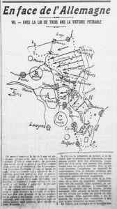 En face de l'Allemagne - Avec la loi de trois ans la victoire probable - L'Ouest-Eclair, une du 6 avril 1913 (extrait) | Gallica - Bibliothèque nationale de France