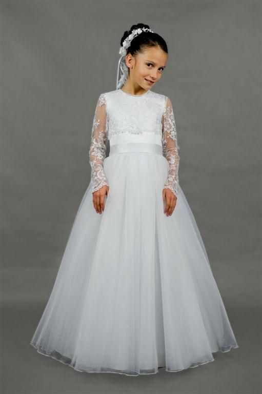 Elegant White Ivory Lace Long Sleeve First Communion Dresses for Weddings Floor length Vestidos de Primera Comunion Casamento-in Flower Girl Dresses from Weddings & Events on Aliexpress.com   Alibaba Group