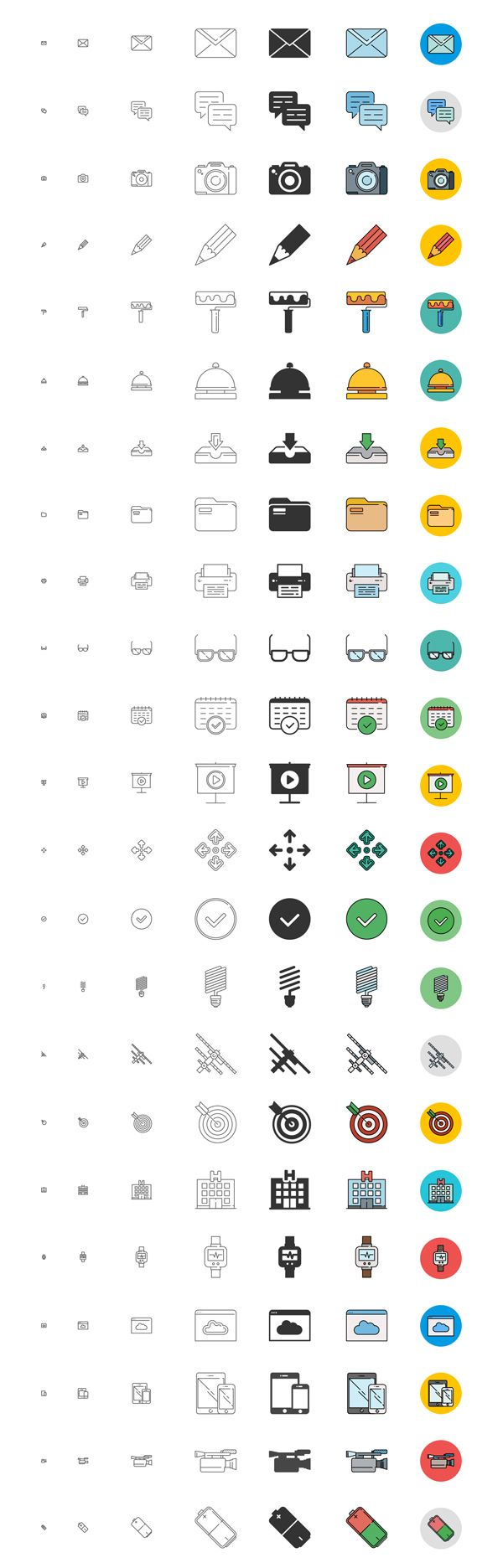 Free Responsive Icons Set - 192 Icons #freeicons #freepsdicons #lineicons #flaticons #vectoricons