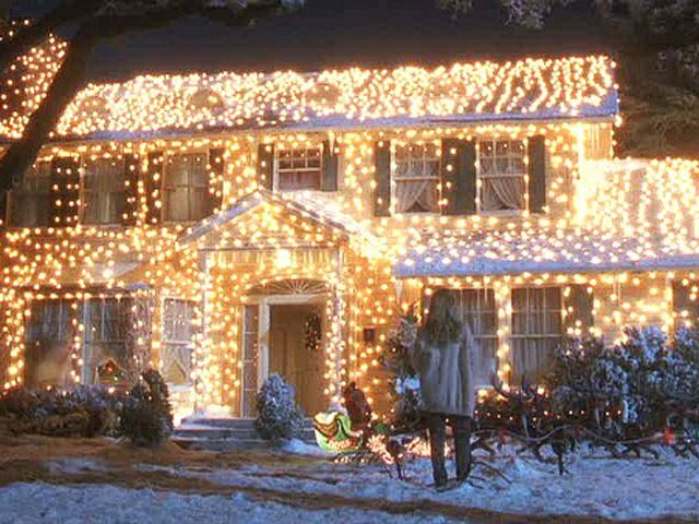 National Lampoon's Christmas Vacation. I think there are shutters underneath the lights somewhere!