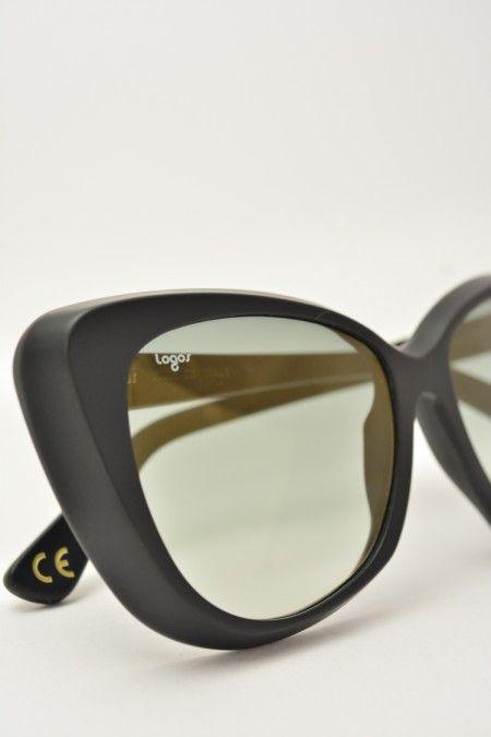 Logos BENEDETTA black matte sunglasses #sunglasses #logos #blackmatte #butterfly #butterflyshape #blackgradient #bassanodelgrappa #designglasses #design #cheap online store at www.bassanooptical.com