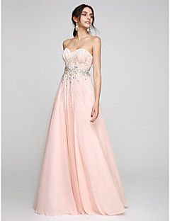 TS+Couture®+Formal+Evening+Dress+A-line+Sweetheart+Floor-length+Tulle+with+Beading+/+Crystal+Detailing+–+USD+$+139.99