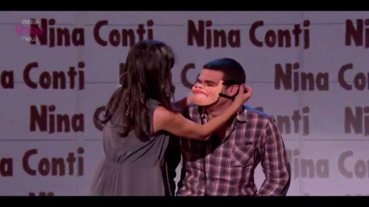 The Human Puppet. Nina Conti performs on Russell Howard's Good News using an audience member as her 'perfect puppet'.