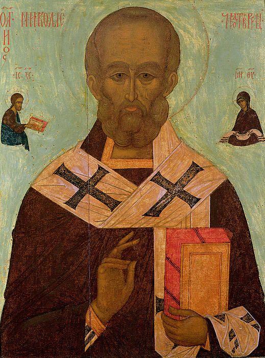 Icon of St. Nicholas. Russian School.