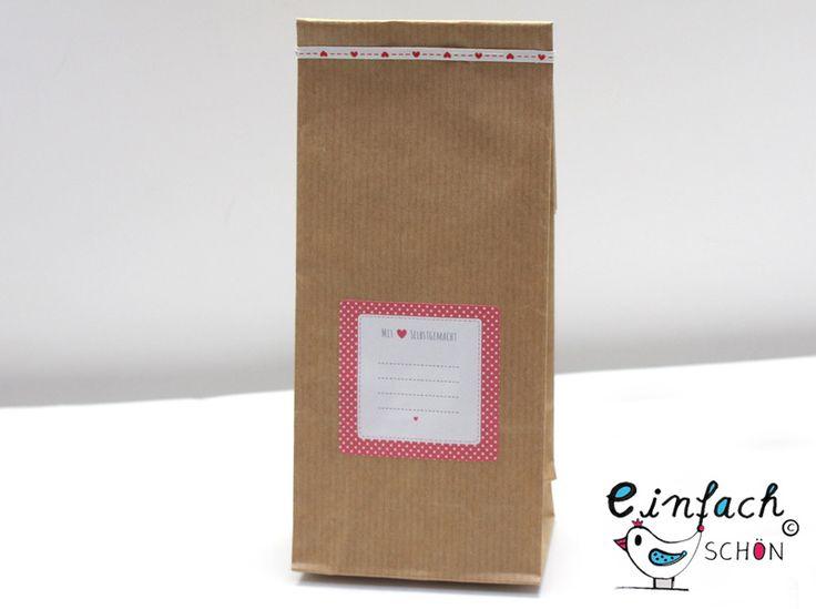 Geschenkverpackungen - 24 Blockbodenbeutel Kraftpapier Innen beschichtet - ein Designerstück von einfachschoen-shop bei DaWanda