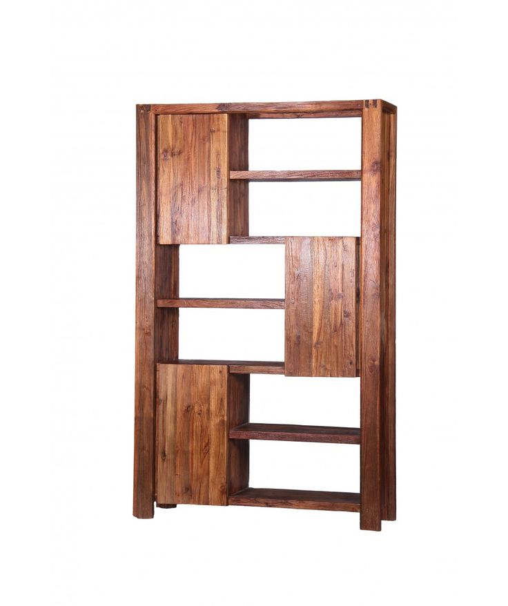 Teak Bookshelf With Cupboards | Home Office Furniture - Easterly
