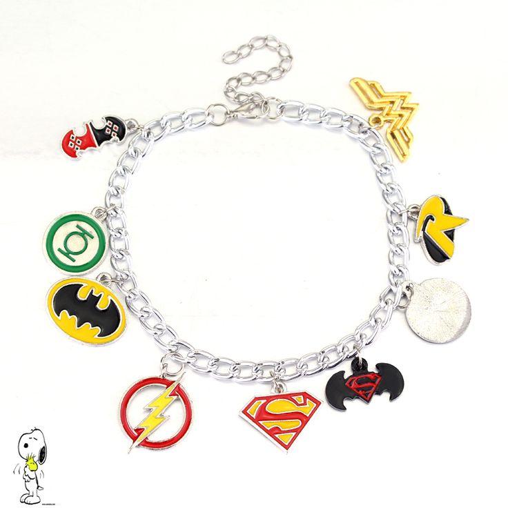 Justice League Bracelet //Price: $4.99 & FREE Shipping //     #BatmanFanShop
