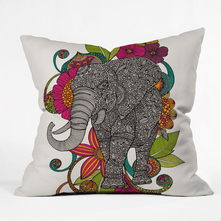 Valentina Ramos Ruby The Elephant Throw Pillow | DENY Designs Home Accessories