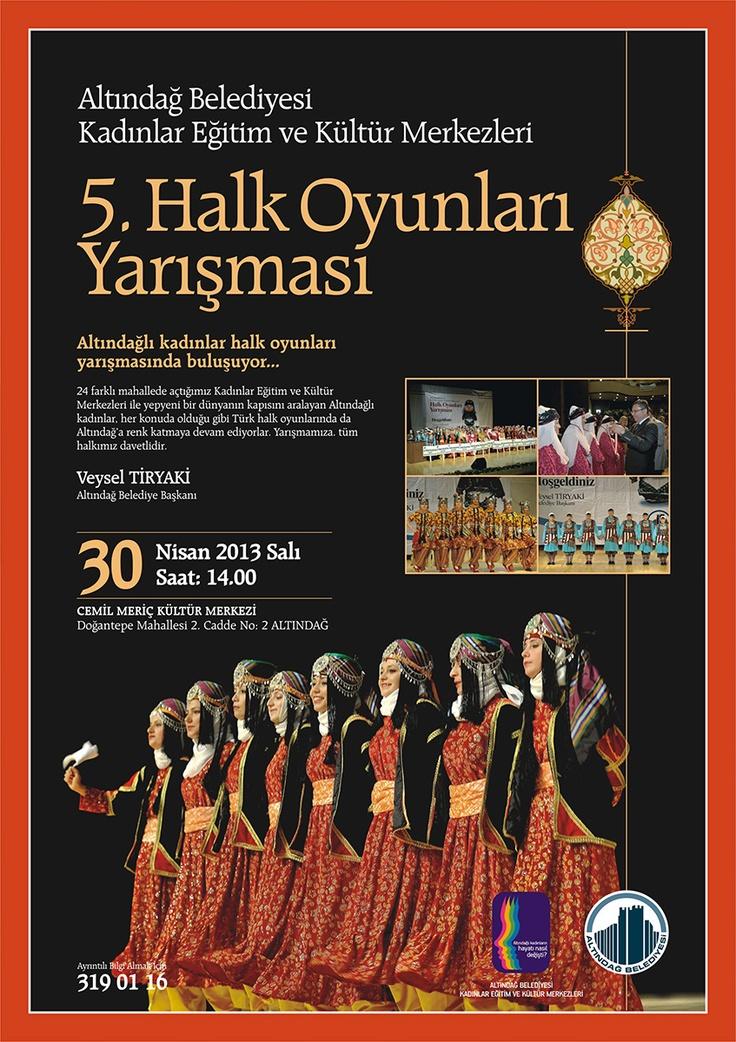 5. Halk Oyunları Yarışması 30 Nisan'da Cemil Meriç Kongre Merkezi'nde
