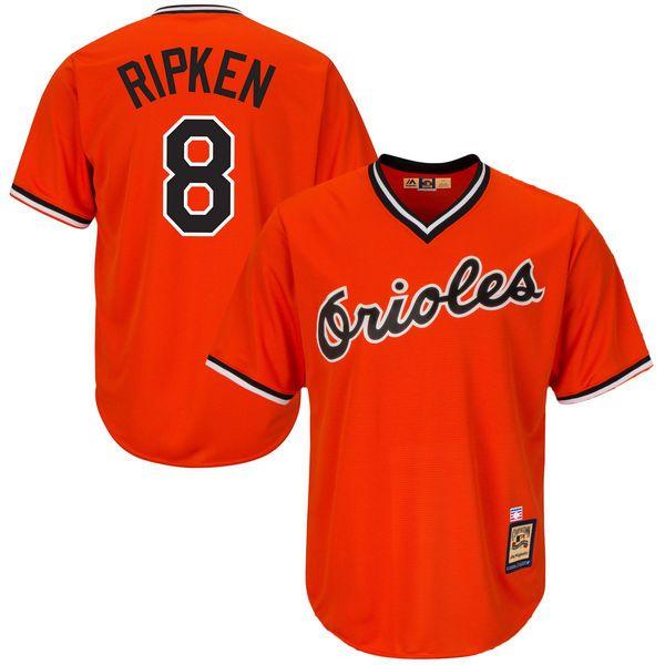 Men's Baltimore Orioles Cal Ripken Jr Majestic Orange Alternate Cool Base Cooperstown Collection Player Jersey | MLBShop.com