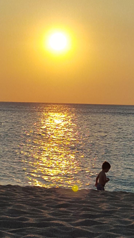 Falassarna beach, Crete, Greece child in the sunset #trivo