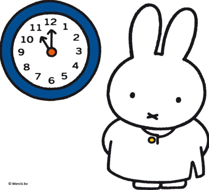 Miffy and clock #time #illustration #DickBruna