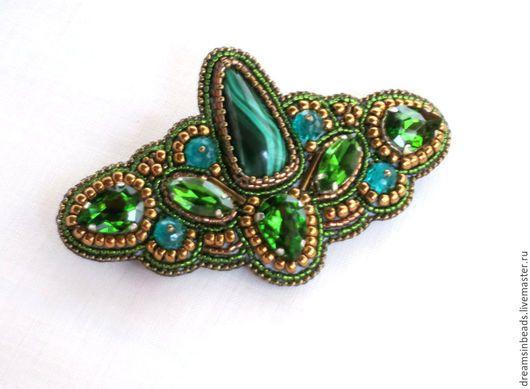 """Заколки ручной работы. Ярмарка Мастеров - ручная работа. Купить Заколка """"Royal Green"""". Handmade. Зеленый, украшение для женщины"""